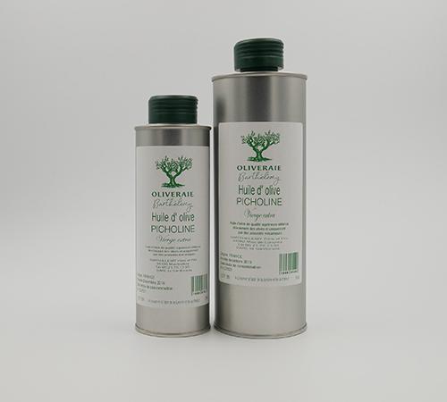 Huile d'olive vierge extra picholine vente direct producteur